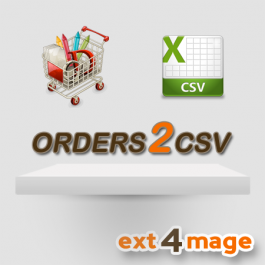 orders2csv icon - an magento extension to export order data