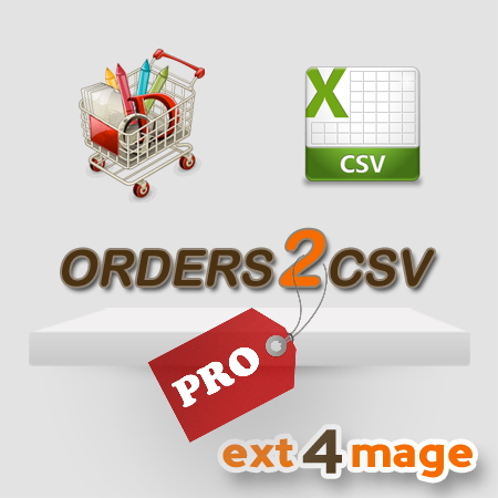 The Orders2CSV PRO extension for Magento